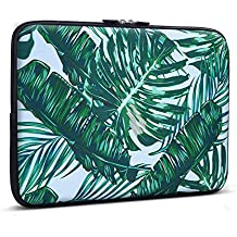 11-13.3 pulgadas Laptop Sleeve Funda , iCasso Palm Leaf Pattern bolsa con asa Bolsa de Transporte de para MacBook Air, MacBook Pro / Pro Retina, Ordenador Portátil Notebook, Ultrabook