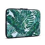 iCasso Palm Leaf Pattern Schützend Weich Handtasche , Tragetasche Laptop sleeve Einfachen Stil Hülle für Laptop / Dell / Surface / MacBook, Notebook und Tablet / Lenovo / Samsung (11-13.3 Zoll)