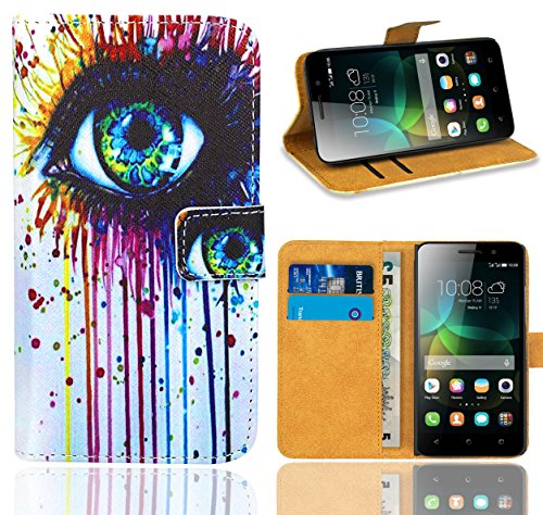 FoneExpert® Huawei G Play Mini / Honor 4C Handy Tasche, Wallet Case Flip Cover Hüllen Etui Ledertasche Lederhülle Premium Schutzhülle für Huawei G Play Mini / Honor 4C (Pattern 10)
