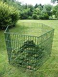 Sia Laub & Rasenschnitt Komposter Pentagon über 1.300 Liter Füllvolumen grün