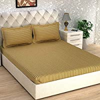 Story at Home King Double Bedsheet, Brown, 270cm X 270cm, Fe2062