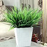 Youlala 7 forchetta artificiale plastica verde erba piante fiori finti leaves wedding indoor outdoor home Garden decorazione domestica