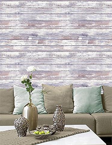 Rustikal Jahrgang Holz-Stil-Tapete - Schälen und haften - Selbstklebend - Wohnkultur mach es selbst - Packung mit 2 Platten