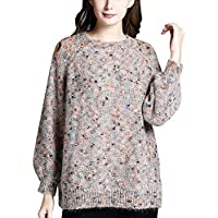 Mena Suéter De Manga Larga Con Cuello Redondo Para Mujer Suéteres Sueltos Suéteres Jersey Tops Casuales ( Color : Light Light tan , Tamaño : S )