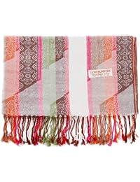 688f0ad2168 HITSAN INCORPORATION Pashmina Silk Shawl Paisley Stripes Scarf Wrap Hijab  Stole Autumn Spring Winter Soft Long