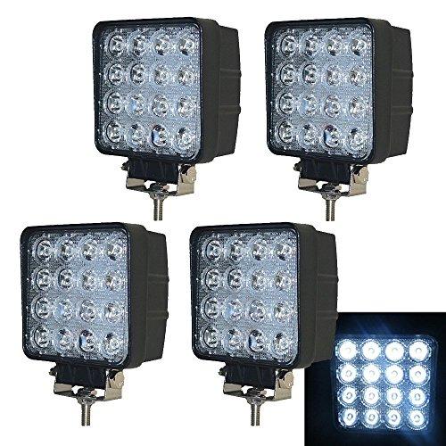 VINGO® 4X 48W LED Scheinwerfer Flutlicht Rückfahrscheinwerfer IP67 Wasserdicht Arbeitsscheinwerfer 12V 24V (Wasserdichte Led-scheinwerfer)