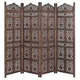 Crafts A to Z Wooden Partitions Wood Room Divider Partitions for Living Room 4 Panels Room Dividers and Partitions Modern Room Separators Screen Panels Wooden Partition Room Dividers for Home & Kitchen Office Wall