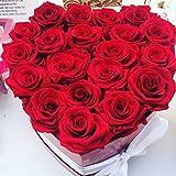 Corazón de Rosas Consta: 32-34 Rosas + Tarjeta con mensaje (Opción Rosas Blancas en el centro)
