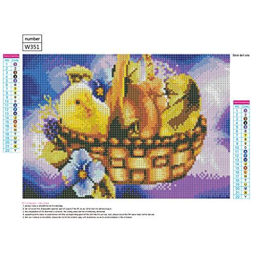 Vovotrade DIY 5D Diamant Malerei, Kristall Strass Diamant Stickerei Gemälde Bilder Kunsthandwerk für Hauptwanddekor Ostern Hase goldenes Ei,40 * 30cm