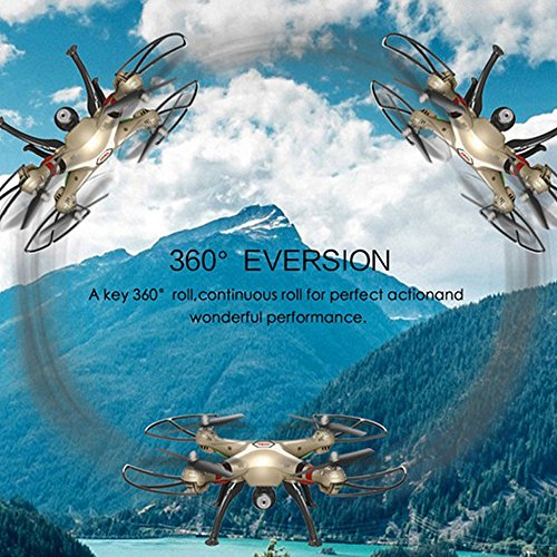 Syma X8HW (aggiornamento del popolare Syma X8W) 2.4GHz 6-Axis Gyro Wifi FPV con la macchina fotografica HD RC Quadcopter Drone (X8HW) - 5