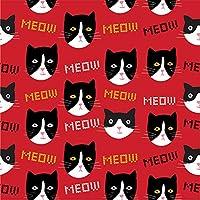 Elise Crazy - Servilletas de papel, diseño de gato y gato, tamaño grande,