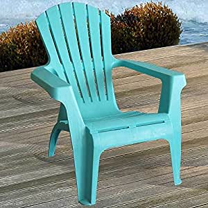 2 st ck adirondack chair stapelstuhl gartenstuhl liegestuhl kunststoff blau. Black Bedroom Furniture Sets. Home Design Ideas