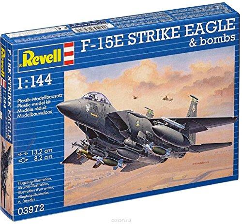 Revell - 03972 - F-15e Strike Eagle Avec Bombes - 70 Pièces - Échelle 1/144