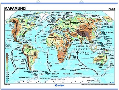 Mapamundi, físico / político: Mapas Murales () por S. A. Edigol Ediciones