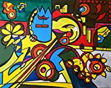 ORIGINAL Kunstwerk Gemälde/ 100 x 80 cm/ In jede Richtung aufhängbar/ Malerei/ Acrylbild/ Abstrakte Kunst/ Zeitgenösische Kunst/ Moderne Kunst/ Figurativ/ Bilder/ Deko/ Wanddeko