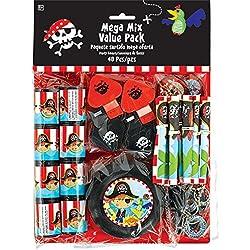 Paquete con accesorios piratas para fiestas.