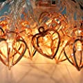 EONANT Metal String Lights, 1.8M 10LED Fairy Lights Rose Gold Metal Latern String Lights Battery Operated For Christmas Home Party Decoration