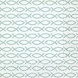 Paper+Design GmbH Serviette Fischsymbol, Silbergrau 20 Stück