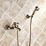 Badezimmer Wand montiert Messing antik Badewanne Armatur mit Handbrause, 1/2 Nicht Nordamerika