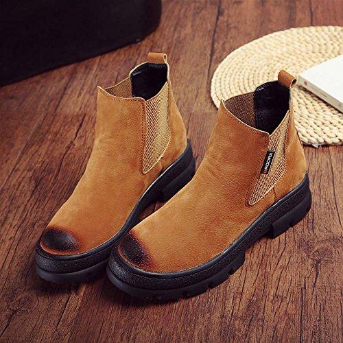 ZYT Autunno/inverno stivali ladies elastica del piede spesse suole usurate casual scarpe da donna . b . 37