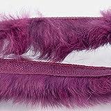 Fellband Paspel zum Einnähen - weinrot purpur - Fellborte Kanin