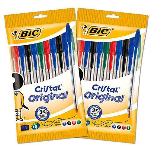 BIC 962704 Lot de 20 Stylos à bille en cristal d'orig