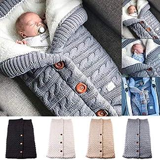 FIRENGOLI Saco de Dormir Unisex para Bebés Recién Nacidos Manta para Bebé Carrito de Bebé Blanket Manta para 0-18 Meses