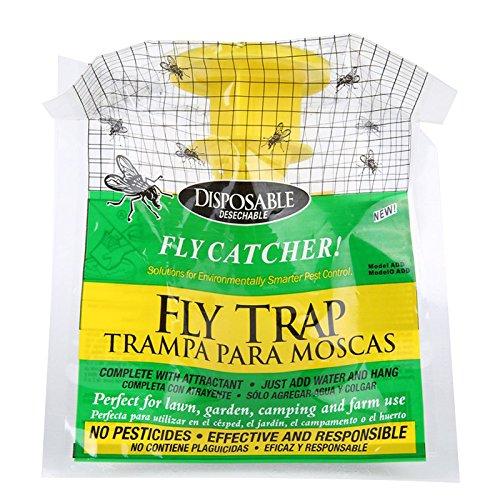 Fly Trap – moscas de insectos atrapasueños, plástico desechable no tóxico, bolsa de cebo, saco de cebo supereficaz, juego de atrapasueños de mosca pegajoso para uso en interiores o invernaderos