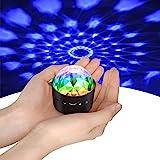Mini discoboll ljus, YIKANWEN röststyrning disco partylampor scenbelysning effektljus DJ stroboskop kula med speglar och glit