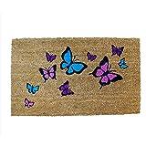 """Schmetterling-Fußmatte """"MATD2"""" von A La Maison, transparent, 45x 75cm"""