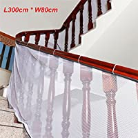 ele ELEOPTION Children Safety Net, 3 Meters Stairway Rail Balcony Stairs Safety Net Durable Weaterproof Indoor Outdoor Banister Stair Net for Kids Pet Toy Safety, Indoor and Outdoor Stairs Balcony or Patios