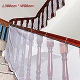 ele ELEOPTION Kinder Treppen Schutzgitter 3 Meter Balkon Sicherheit Netz Treppennetz für Baby Haustier