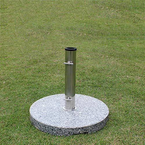 Umbrella base YXLZ 15kg Runder Marmor Sonnenschirm Basis Stein SchirmstäNder - Mit Edelstahlrohr/Eisenrohr -