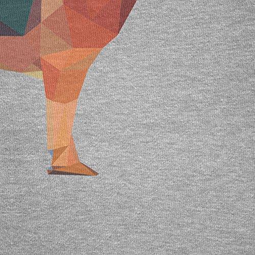 TEXLAB - Poly German Shepard - Herren T-Shirt Grau Meliert