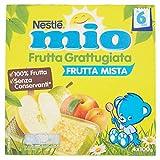 Nestlé Mio Frutta grattugiata Frutta Mista da 6 Mesi, senza Glutine, Confezione da 4x100 gr, Totale: 400 gr - [confezione da 6]