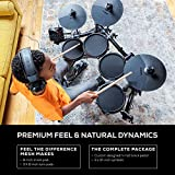 Alesis Drums Turbo Mesh Kit- Christmas Gift Essential - Seven Piece Electric Drum Set With 100+ Sounds, 30 Play-Along Tracks and Drum Key Included