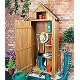 Platzsparender Werkzeugschuppen aus Holz für den Garten