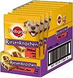 Pedigree Riesenknochen Mini – Hundeleckerli mit Rind – Ideal als Belohnung für kleine Hunde – 8 x 180g im Multipack mit je 4 Knochen