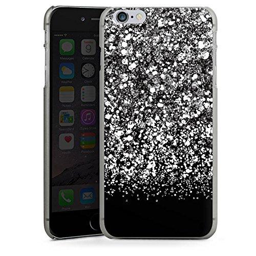 Apple iPhone X Silikon Hülle Case Schutzhülle Glitzer Look Schnee Pattern Hard Case anthrazit-klar