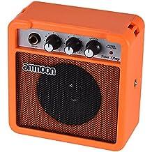 ammoon Amplificador para Guitarra Acústica/Eléctrica Ukulele Mini 5 Vatios 9V Pilas Alta Sensibilidad con