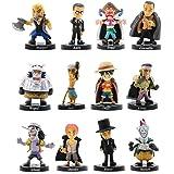 One Piece Cake Toppers 12pcs Pirates Figure Personaggi Figure Mini Luffy Decorazione della torta Fatta a Mano Bambola Complea