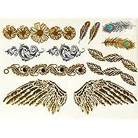 ღ Tatuaje temporal del tatuaje Flash Ys52 Metal oro pegatinas pegatinas etiqueta pulseras chapa joyería-del cuerpo