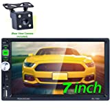 Honboom 2 DIN Radio Coche Bluetooth Car Stereo con Pantalla Táctil HD de 7 Pulgadas Soporta Llamadas Manos Libres/FM/USB/TF/A