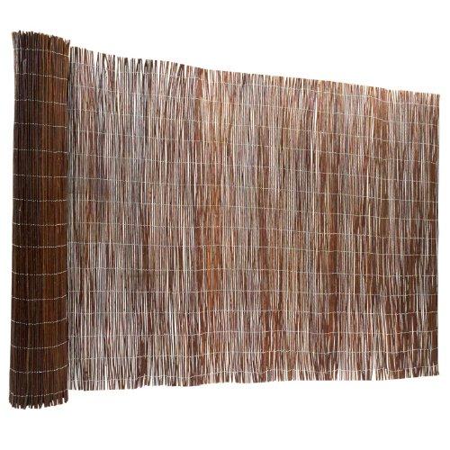 casa pura Recinzione Giardino Legno - Frangivento Legno | Frangivista Giardino in Vimini Naturale a Rametti in Varie Misure - 100x500 cm