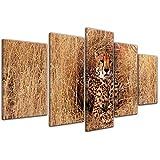 Kunstdruck - Gepard - 100x50 cm 5 teilig - Bilder als Leinwanddruck - Wandbild von Bilderdepot24 - Tierwelten - Katze - Raubtier - Gepard im hohen Gras