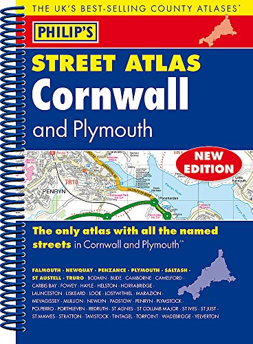 Philip's Street Atlas Cornwall and Plymouth: Spiral Edition Plymouth Karten