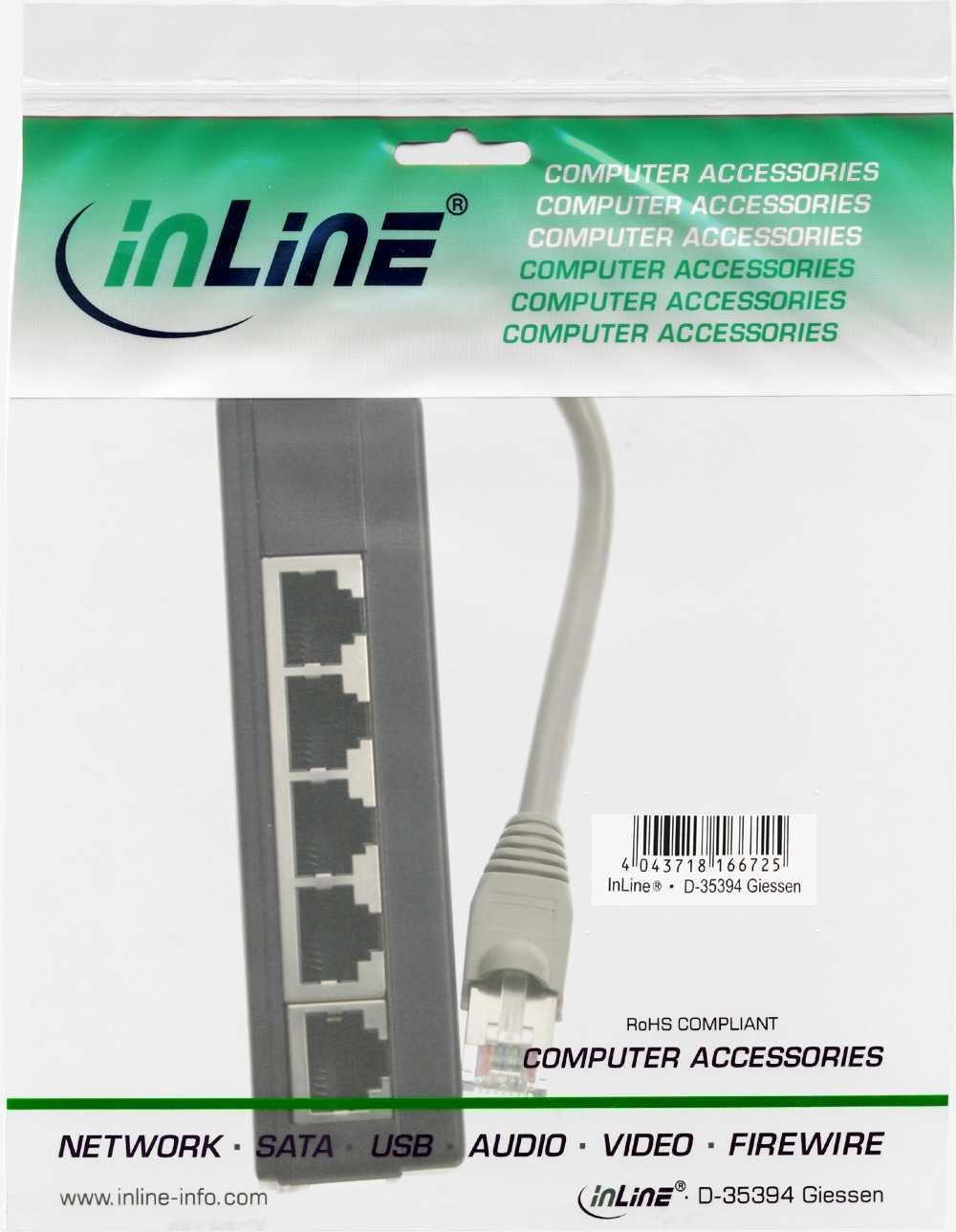InLine 69935 ISDN Verteiler 5x RJ45 Buchse 15 cm Kabel: Amazon.de ...