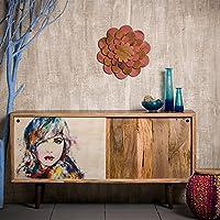 Native Home Sideboard Design, mit Bild, modern, massiv, mit Türen, Mangoholz, Kommode, HxBxT: 85 x 160 x 45 cm, bunt preisvergleich bei kinderzimmerdekopreise.eu