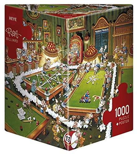 Heye- Puzzle Biliardo, 1000 Pezzi, Multicolore, 29232