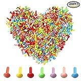 500Teile Mini Brads, wowot 5mm multicolor rund Brad, Papier Craft Stamping Scrapbooking DIY Werkzeug